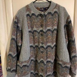 Vintage knit sweater size xL